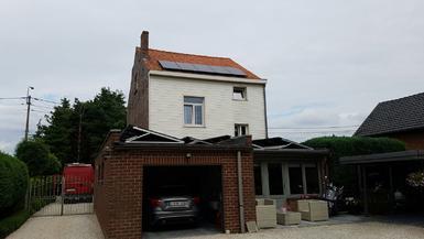6.480Wp - Panelen Eurener te Genk op schuin- en plat dak
