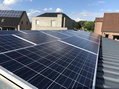6.050Wp panelen Solarwatt te Meeuwen