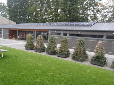 11.880Wp panelen Talesun op Technische dienst Gemeente Lanaken