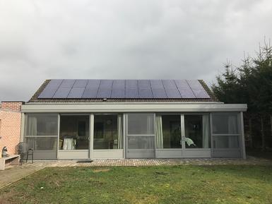 6.360Wp - panelen Solarwatt te Geel