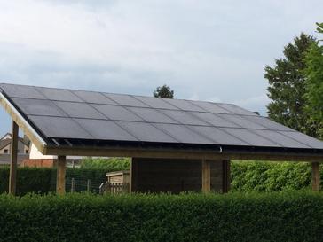 24 panelen axitec 270 wp ful black met solar edge te lommel