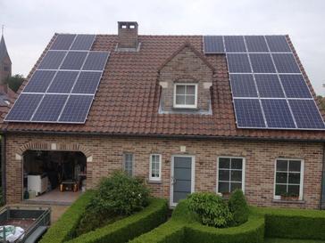 24 panelen axitec 265 wp met solar edge te veldwezelt