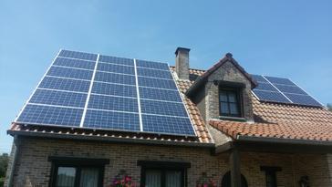 24 panelen axitec 265 wp met solar edge te paal