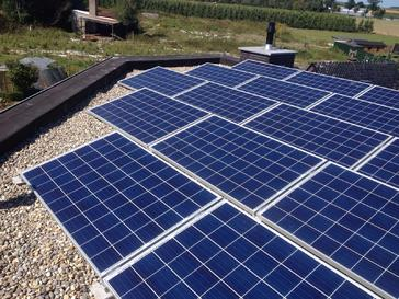 17 panelen axitec 265 wp met solar edge te borgloon