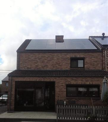 20 panelen axitec 265 wp met solar edge te maasmechelen