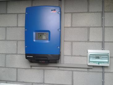 Omvormer SMA STP 6000 met webconnect voor monitoring