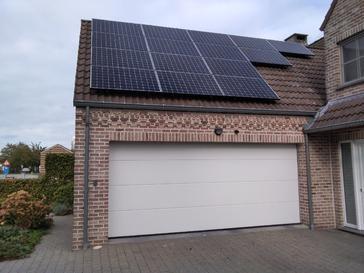 40 panelen SUNPOWER 360 WP Zuid-Oost / Zuid-West met Solar Edge te Opitter