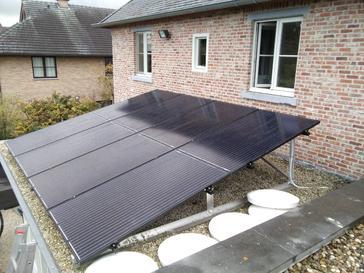 21 panelen AXITEC 300 WP met Solar Edge te Hasselt