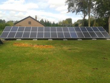 32 zonnepanelen op schans