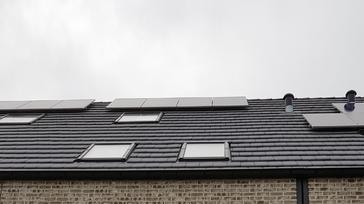 8 panelen AXITEC 270 WP Oost-West te Niel