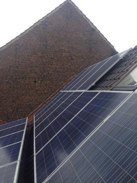 17 panelen 250 Wp met SolarEdge te Schaarbeek
