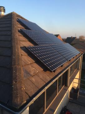 12 Sunpower panelen te Ranst - Antwerpen