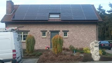 33 panelen SUNPOWER 327 Wp met SolarEdge te Opoeteren