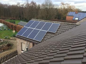 9 panelen AXITEC met SolarEdge te AS