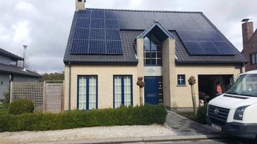 32 panelen SUNPOWER 327 Wp met SolarEdge te Kruibeke