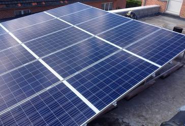15 panelen axitec 265 wp solar edge te Hasselt